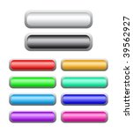 set of vector shine buttons | Shutterstock .eps vector #39562927