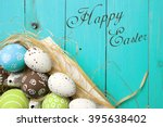 easter card. painted easter... | Shutterstock . vector #395638402