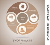 swot analysis template with... | Shutterstock .eps vector #395638906