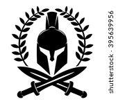 vector sign. spartan helmet.   Shutterstock .eps vector #395639956
