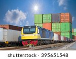 container trains | Shutterstock . vector #395651548
