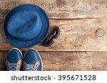 men's casual accessories hat ... | Shutterstock . vector #395671528