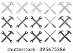 may day. wrenches  hammer and... | Shutterstock .eps vector #395675386