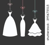 bridal dresses white on a... | Shutterstock .eps vector #395675515