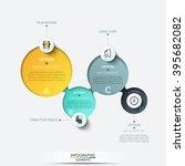 modern business circle origami... | Shutterstock .eps vector #395682082