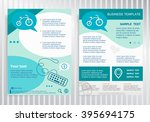 bicycle icon on vector brochure.... | Shutterstock .eps vector #395694175