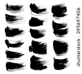 abstract black strokes set... | Shutterstock .eps vector #395697406
