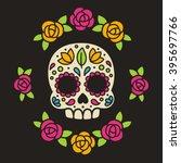 mexican dia de los muertos  day ... | Shutterstock .eps vector #395697766