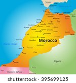 color map of morocco country | Shutterstock .eps vector #395699125