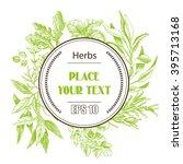 vector background sketch herbs. ... | Shutterstock .eps vector #395713168