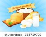 milk  in a bottle or a glass....   Shutterstock .eps vector #395719702