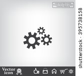 settings icon vetor | Shutterstock .eps vector #395738158