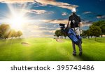 Golf Player In A Black Shirt...