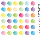 watercolor stains in... | Shutterstock . vector #395744092
