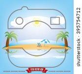 camera beach ocean | Shutterstock .eps vector #395754712
