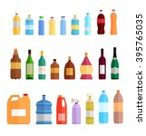 drink bottle plastic or glass... | Shutterstock . vector #395765035