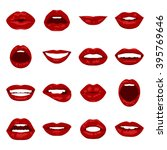 vector lips set. | Shutterstock .eps vector #395769646