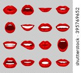 vector lips set. | Shutterstock .eps vector #395769652