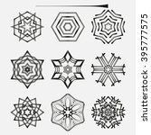 set of knot symbols  geometric... | Shutterstock .eps vector #395777575