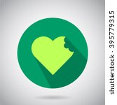 heart icon. background  shadow... | Shutterstock .eps vector #395779315