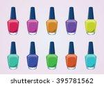 nail polish bottles | Shutterstock .eps vector #395781562