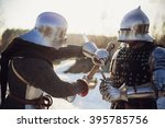Two Armored Knights I With The...