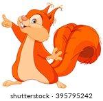 Illustration Of Cute Squirrel...