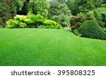 beautiful garden with a freshly ... | Shutterstock . vector #395808325