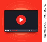 video player design template... | Shutterstock .eps vector #395815276