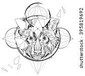 animal head triangular icon  ... | Shutterstock .eps vector #395819692