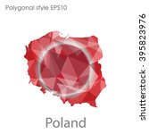poland map in geometric... | Shutterstock .eps vector #395823976