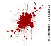 vector splatter red color... | Shutterstock .eps vector #395826526
