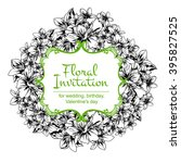 vintage delicate invitation... | Shutterstock . vector #395827525
