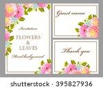 vintage delicate invitation... | Shutterstock . vector #395827936