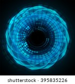 dark blue wave light abstract...   Shutterstock . vector #395835226