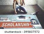 scholarship aid college... | Shutterstock . vector #395837572