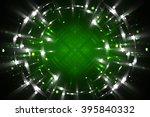 abstract fractal green... | Shutterstock . vector #395840332