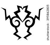 tattoo tribal vector design... | Shutterstock .eps vector #395862805