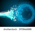 dark blue circle wave light... | Shutterstock . vector #395866888