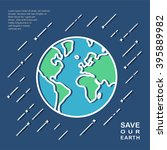 save the world illustration... | Shutterstock .eps vector #395889982