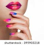 beauty woman portrait.... | Shutterstock . vector #395903218