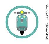 vintage scooter vector | Shutterstock .eps vector #395903746