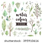 premium quality watercolor... | Shutterstock .eps vector #395910616