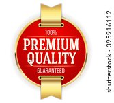 red premium quality badge ... | Shutterstock .eps vector #395916112