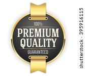 black premium quality badge ... | Shutterstock .eps vector #395916115