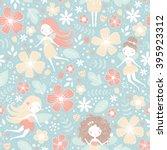 vector seamless floral pattern... | Shutterstock .eps vector #395923312