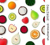 vector seamless background with ... | Shutterstock .eps vector #395927992