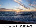 sunset on the horizon  the sea... | Shutterstock . vector #395934472