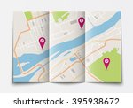 vector flat paper city map... | Shutterstock .eps vector #395938672