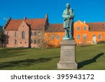 Small photo of Hans Christian Andersen statue near the river in Odense, Dernmark